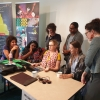 Art centre members with Edwina Circuitt, art facilitator at IACA Conference in May. Image: IACA.