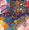 Amanda Jane Gabori, Mud Shells on My Mother's Country, Acrylic on Belgian linen, 197.5 x 197.5cm. Image: MI Art
