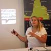 Curator Shona Coyne presenting on behalf of the National Museum of Australia.