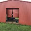 Red storage shed damage. Image: Lockhart River Art