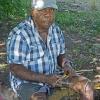 Senior Girramay artist Philip Denham, Image: Girringun Aboriginal Art Centre